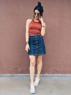 Saia jeans / @aliciasampaio