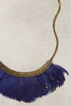 Fanned Feather Necklace ($58) | Anthropologie.