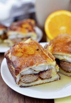 """""""french toaststed"""" sausage pear hot dogs"""