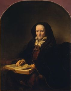 Ferdinand Bol - Portrait of an Old Woman with a Book. 1651
