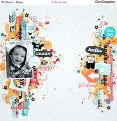 #papercraft #scrapbook #layout Flore - http://scrapfloring.over-blog.com/