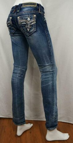 Rock Revival Betty Straight Jeans Distressed Destroyed sz 25 X 32 EUC Rock Revival Jeans, Jeans And Boots, Jeans Size, Women's Clothing, Clothes For Women, Denim, Cotton, Fashion, Women's Clothes