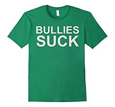 Amazon.com: Bullies Suck anti-bully tee shirt: Clothing