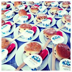 a Sea of Roddas Cream Teas - Only the best Cornish cream for our Brides!