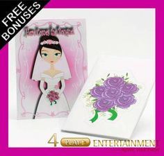 "No Bride would be complete without her bouquet and no Hen/Bridal party would be complete without the ""Here comes the Bouquet"" game. Start your next party properly & keep your guests entertained whilst creating memories that last a lifetime. $14.95 with free postage"