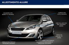 Ecco come si presenta ai Vostri occhi la nuova Peugeot 308 con l'allestimento Allure