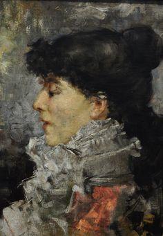 Actress Sarah Bernhardt by Jules Bastien-Lepage (French 1848–1884) Nationalmuseum, Stockholm, Suède