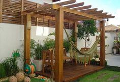 Tienes una pérgola? Aprovecha para lucir y disfrutar en ella una bella hamaca o silla colgante... Visítanos en www.brasilchic.net