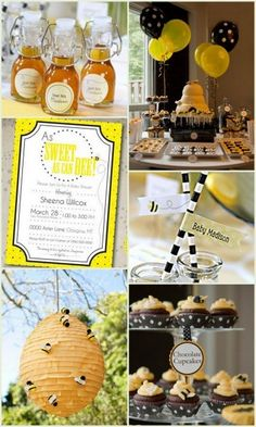 Sweet As Can Bee Baby Shower or Birthday Inspiration and Party Favors Ideas from HotRef.com #BeeBabyShower