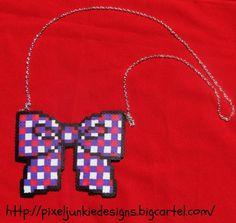 Cute perler bead bow by PIXel_JUNKie