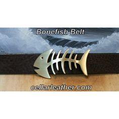 Bonefish Belt Handmade from Cellar Leather on Cape Cod