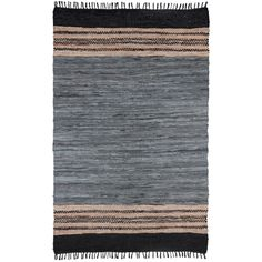 Chindi Grey Leather Rug (4' x 6') - Overstock™ Shopping - Great Deals on St Croix Trading 3x5 - 4x6 Rugs