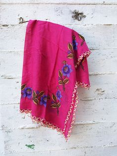 Turkish scarf Turkish oya scarf Oya crochet Hot pink by GuruMIme, $30.00