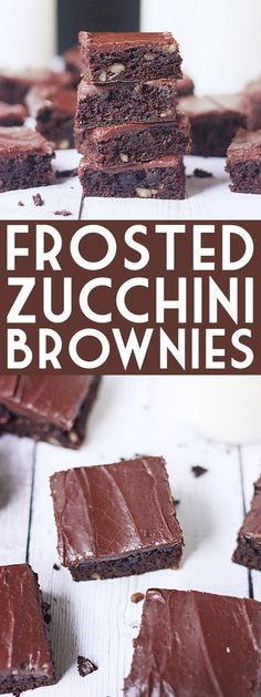 Frosted Zucchini Brownies -- These frosted zucchini brownies with their rich, chocolaty flavor and creamy chocolate frosting are sure to become a family favorite! | isthisreallymylife.com