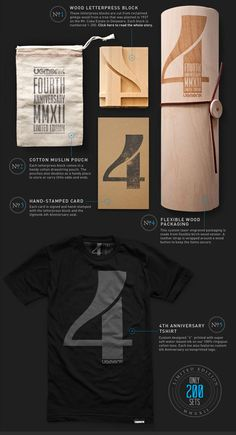Ugmonk 4th Anniversary Set (Plus adiscount!)  Have you seen Ugmonk's amazing 4th Anniversary set? It is an incredible package of limited edition goods including at-shirt, aletterpress block made from reclaimed Ginkgo wood and more, held together in abeautiful laser-engraved custom container. Be sure to check out more detailed images and get the whole story right here.