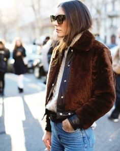 So much heavy pile, shearling-ish outerwear all over Europe this winter.