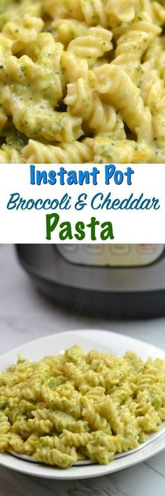 Instant Pot Broccoli & Cheddar Pasta Cheesy and creamy this will be your families new favorite meal. #InstantPot #OnePotMeal