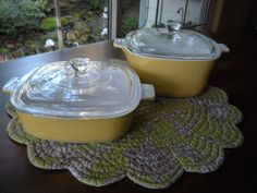 Vintage Corning Ware Covered Casserole Set - Harvest Gold on Etsy, $18.99