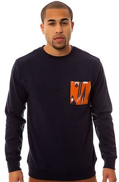 Featuring a classic crewneck fit with a modern fashionable twist, The Mallace Crewneck in Indigo from Volcom Stone is a must have for any menswear wardrobe  $55