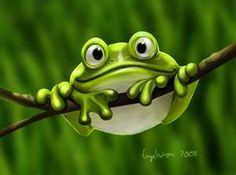 real or cartoon froggie?
