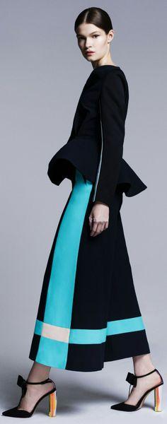 Roksanda Ilincic resort 2014- I like the color block skirt