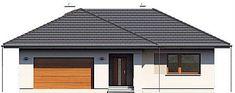 Projekt domu Nika 2 116,51 m2 - koszt budowy - EXTRADOM Garage Doors, Shed, Outdoor Structures, Outdoor Decor, Home Decor, Home, Decoration Home, Room Decor, Home Interior Design