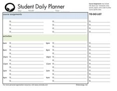 day planner printable | ... student weekly planner download student daily planner gm download