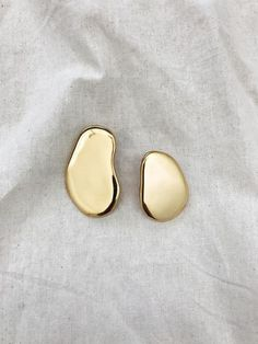 BY NYE | Pebble Earrings in 23ct Hard Gold Plated | The UNDONE