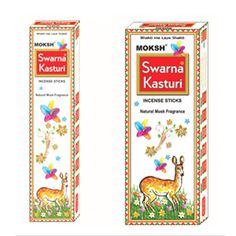 Buy #Moksh Swarna Kasturi #Incense Sticks (Pack of 12)  from a range of Incense Sticks 12 Pack and more Homeware, Kitchenware and Cookware products at Popat Stores.