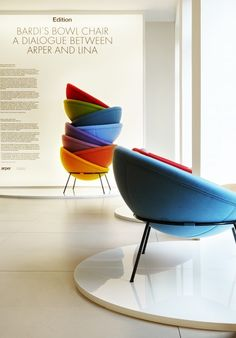 Bardis Bowl Chair #Arper Milan 2013 #Fuorisalone  A dialogue between Arper and Lina
