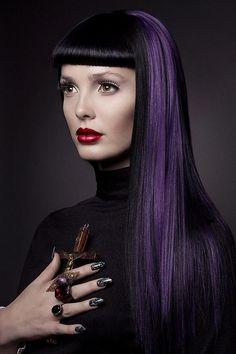 DIY Halloween Hair: DIY Halloween Hairstyles : PurpleHair & Sleek Bangs