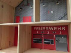 Feuerwehr Aufkleber für das Puppenhaus IKEA FLISAT - PHF03