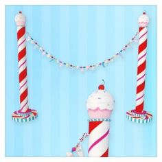 Cupcake Stanchions with Cupcake Garland