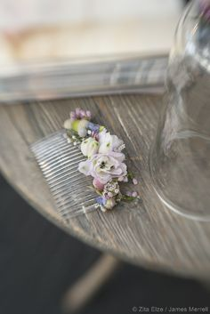 Floral hair comb by Zita Elze James Merrell_9679_wm
