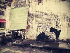 Penang Street Art (Transfer Road Sidewalk Traders)