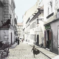 #Spittelberg #Wien #Gutenberggasse #alteFotos #koloriert #Fineartprint #theolddays #historicphotography