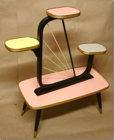 Vintage Mid Century Modern Atomic Plant Stand (I've no dates, but I think is evident)