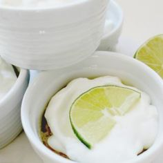 Zesty lime Custard with Whipped Cream