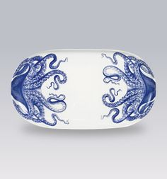 Blue Lucy Oval Tray