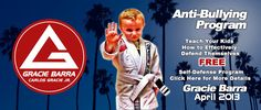 Great News! Gracie Barra is offering, during the entire month of April 2013, a FREE Self Defense program!