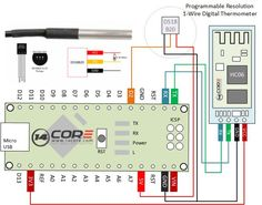 Wiring the DS18S20 1-Wire Temperature Sensor with Bluetooth HC06 on Android & Microcontroller | 14Core.com