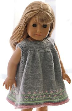 Doll jacket knitting instructions - Elegant summer dress for happy bright summer . - Doll jacket knitting instructions – Elegant summer dress for happy bright summer days - Doll Dress Patterns, Skirt Patterns Sewing, Clothing Patterns, Knitting Patterns, Knitting Projects, American Girl Clothes, Girl Doll Clothes, Girl Dolls, American Girls
