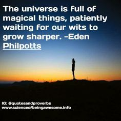 The universe is full of magical things, patiently waiting for our wits to grow sharper. Motivational Quotes For Students, Motivational Picture Quotes, Inspirational Quotes, Quotes To Live By, Life Quotes, Patiently Waiting, Thought Of The Day, Success Quotes, Proverbs