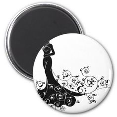 #Abstract Wedding Bride Silhouette Magnet - #WeddingMagnets #Wedding #Magnets Wedding Magnets