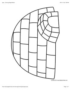winter coloring page with a large igloo to color - Igloo Pictures To Color