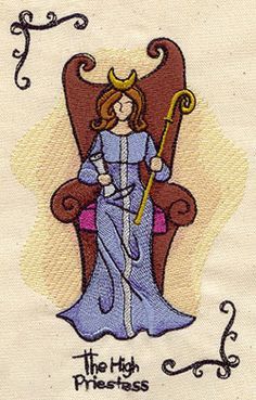 Tarot - The High Priestess design (UT2429) from UrbanThreads.com