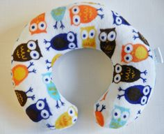Owl baby toddler neck pillow by Loubugsboutique