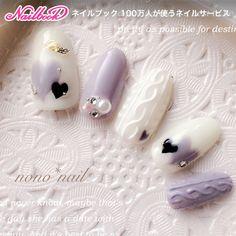nono*nailさんのミディアム,黒,グレー,白ネイル♪[1196320]|ネイルブック