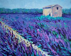 Lavender Field and House painting