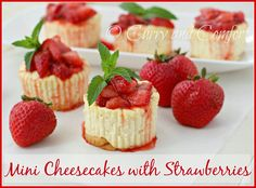 Curry and Comfort - MINI CHEESECAKES WITH STRAWBERRIES